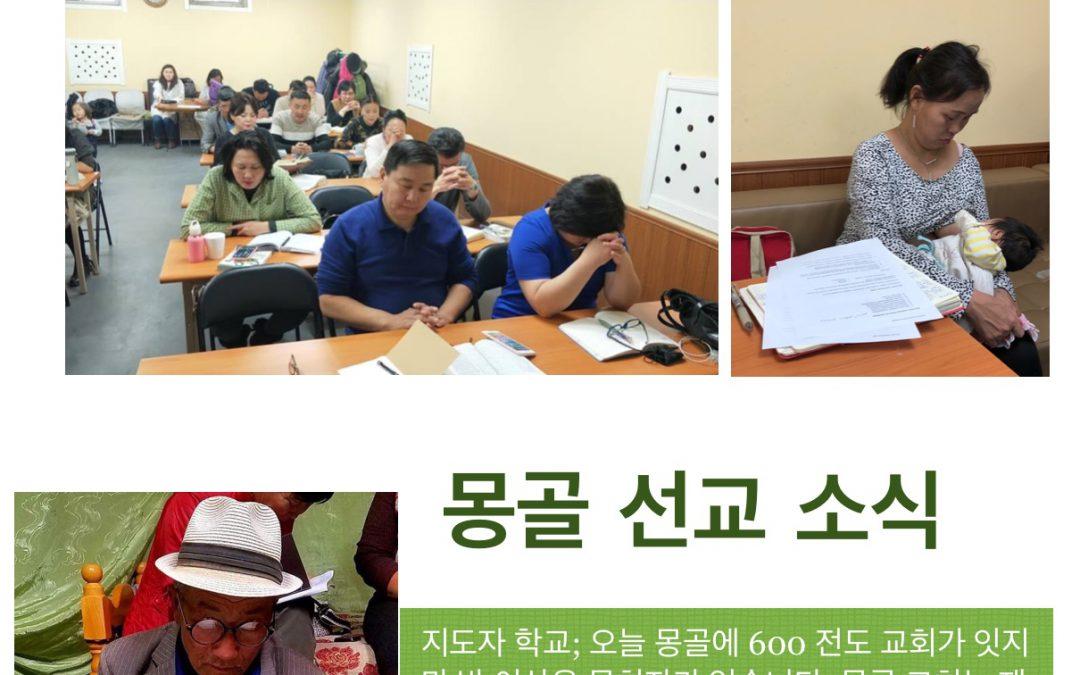 몽골 선교 소식